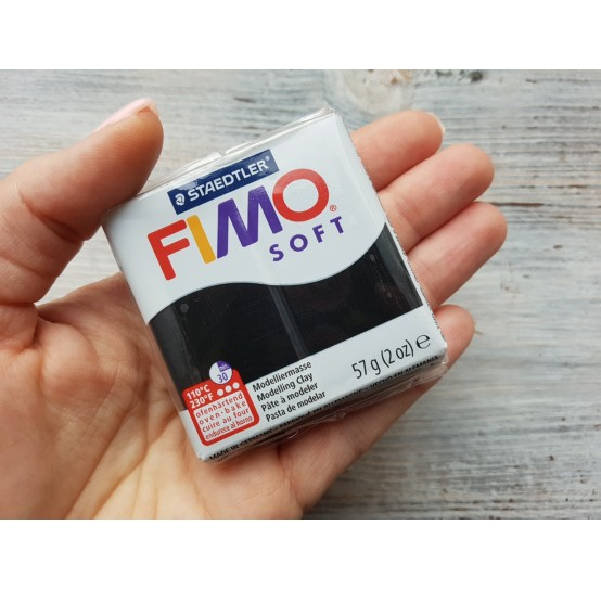FIMO Soft oven-bake polymer clay, black, Nr. 9, 57 gr