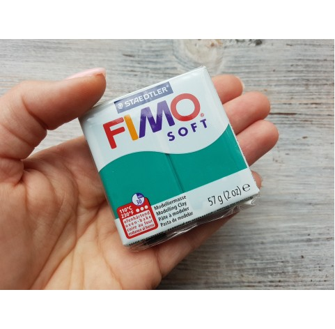 FIMO Soft oven-bake polymer clay, emerald, Nr. 56, 57 gr