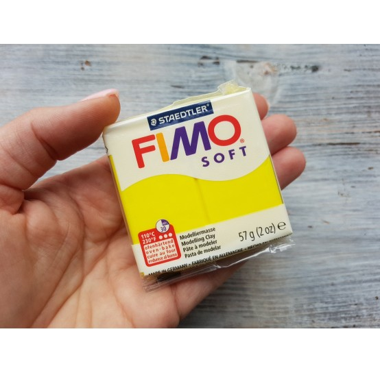 FIMO Soft oven-bake polymer clay, lemon, Nr. 10, 57 gr