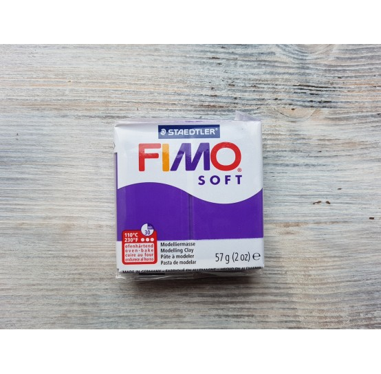 FIMO Soft oven-bake polymer clay, plum, Nr. 63, 57 gr