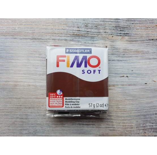 FIMO Soft oven-bake polymer clay, chocolate, Nr. 75, 57 gr