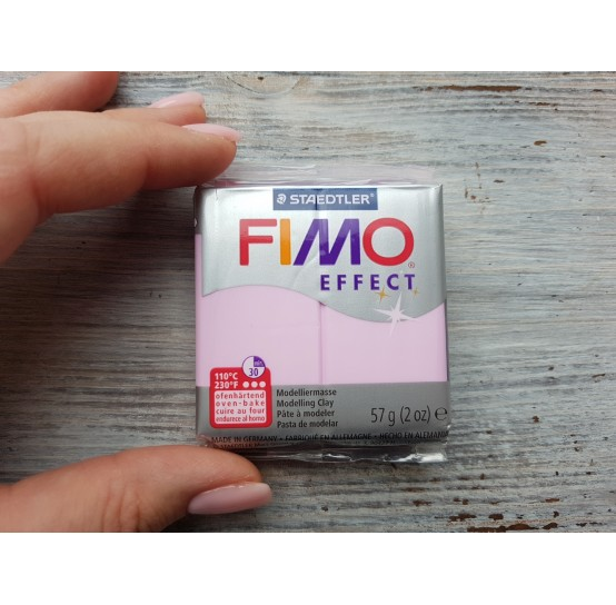 FIMO Effect oven-bake polymer clay, light pink (pastel), Nr. 205, 57 gr