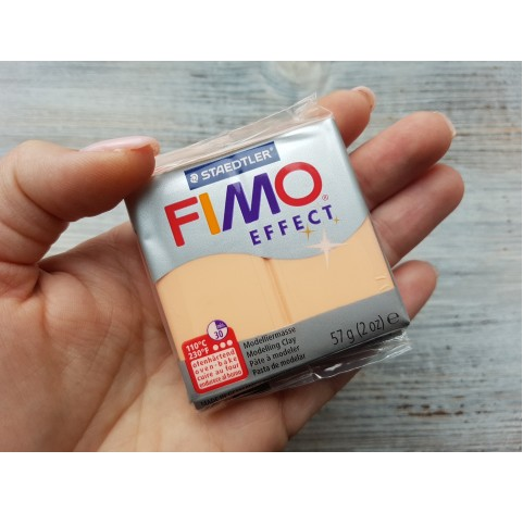 FIMO Effect oven-bake polymer clay, peach (pastel), Nr. 405, 57 gr