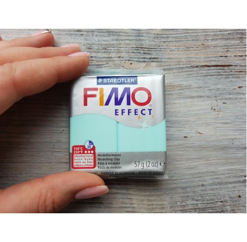 FIMO Effect oven-bake polymer clay, mint (pastel), Nr. 505, 57 gr