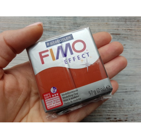 FIMO Effect oven-bake polymer clay, cooper (metallic), Nr. 27, 57 gr