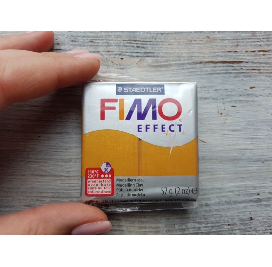 FIMO Effect oven-bake polymer clay, gold (metallic), Nr. 11, 57 gr
