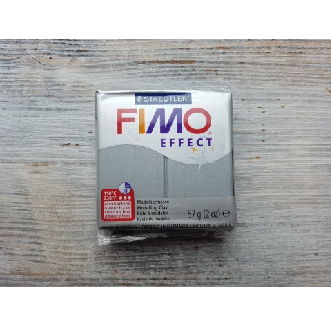 FIMO Effect oven-bake polymer clay, silver (metallic), Nr. 81, 57 gr