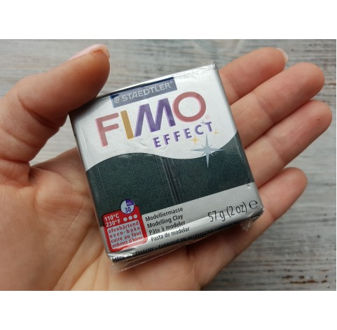 FIMO Effect oven-bake polymer clay, black (pearl), Nr. 907, 57 gr
