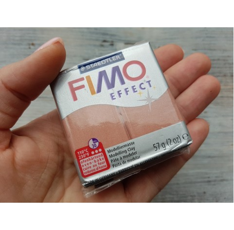 FIMO Effect oven-bake polymer clay, rose (pearl), Nr. 207, 57 gr