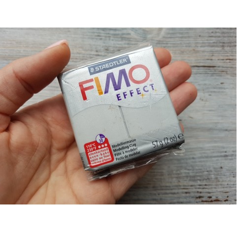 FIMO Effect oven-bake polymer clay, light silver (pearl), Nr. 817, 57 gr
