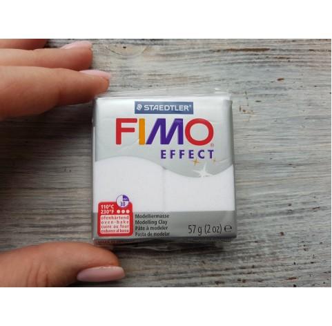 FIMO Effect oven-bake polymer clay, white (glitter), Nr. 052, 57 gr