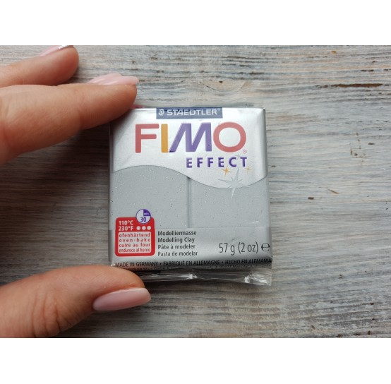 FIMO Effect oven-bake polymer clay, silver (glitter), Nr. 812, 57 gr
