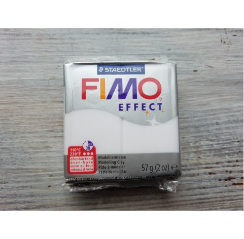 FIMO Effect oven-bake polymer clay, white (translucent), Nr. 014, 57 gr