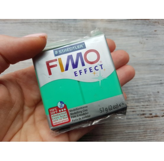 FIMO Effect oven-bake polymer clay, green (translucent), Nr. 504, 57 gr