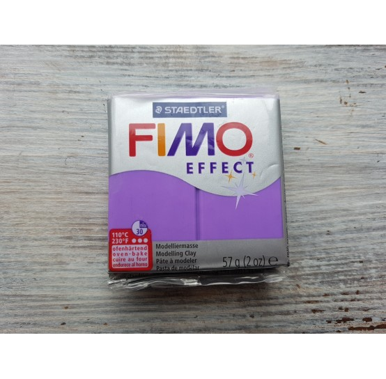 FIMO Effect oven-bake polymer clay, purple (translucent), Nr. 604, 57 gr