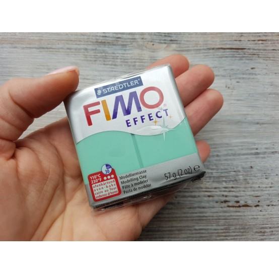 FIMO Effect oven-bake polymer clay, jade green (gemstone), Nr. 506, 57 gr
