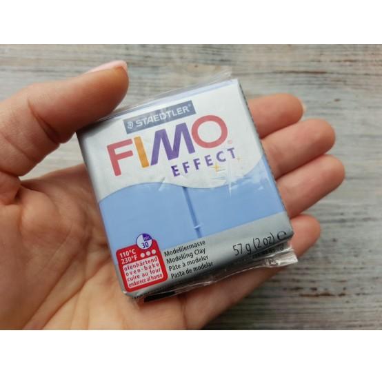 FIMO Effect oven-bake polymer clay, agate blue (gemstone), Nr. 386, 57 gr