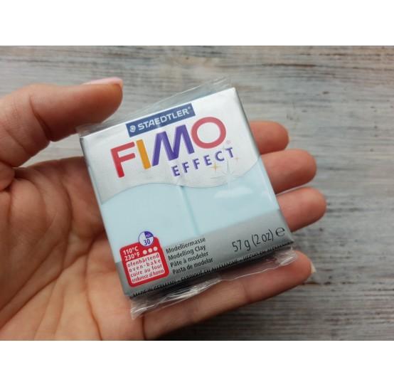 FIMO Effect oven-bake polymer clay, blue ice quartz (gemstone), Nr. 306, 57 gr