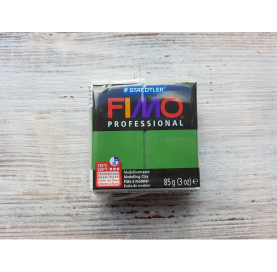 FIMO Professional oven-bake polymer clay, leaf green, Nr. 57, 85 gr