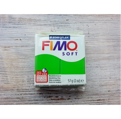 FIMO Soft oven-bake polymer clay, tropical green, Nr. 53, 57 gr