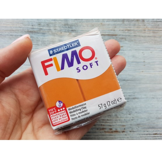 FIMO Soft oven-bake polymer clay, cognac, Nr. 76, 57 gr