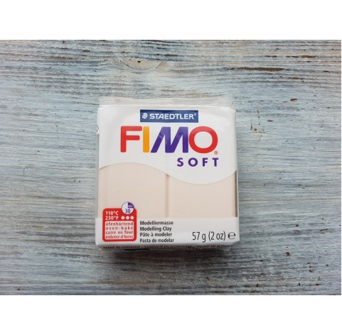 FIMO Soft oven-bake polymer clay, pale pink (flesh light), Nr. 43, 57 gr