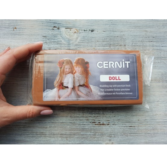 Cernit Doll oven-bake polymer clay, caramel, Nr. 807, 500 gr