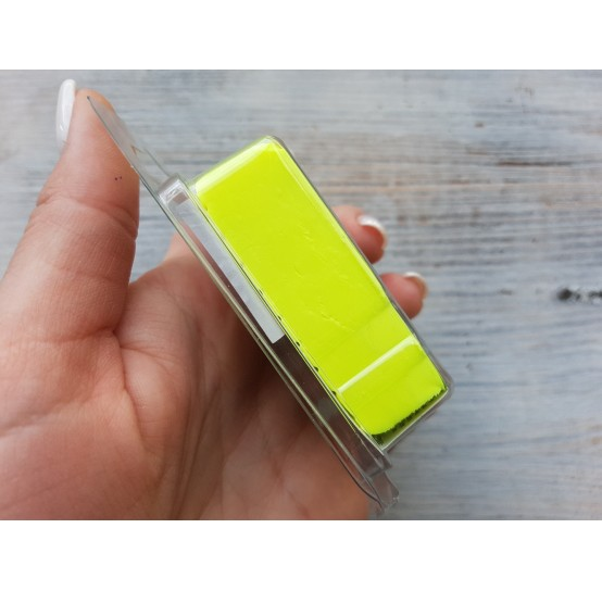Pardo Jewelry and Art oven-bake polymer clay, neon yellow, Nr. 934, 56 gr