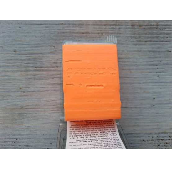 Pardo Jewelry and Art oven-bake polymer clay, neon orange, Nr. 933, 56 gr