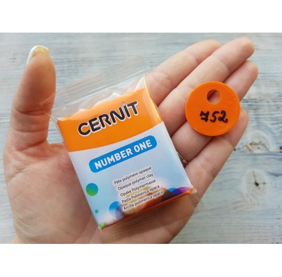 Cernit Number One oven-bake polymer clay, orange, Nr. 752, 56 gr