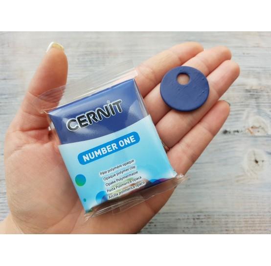 Cernit Number One oven-bake polymer clay, navy-blue, Nr. 246, 56 gr