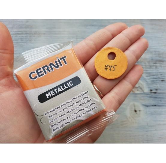 Cernit Metallic oven-bake polymer clay, rust, Nr. 775, 56 gr