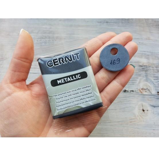 Cernit Metallic oven-bake polymer clay, hematite, Nr. 169, 56 gr