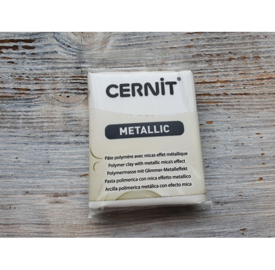 Cernit Metallic oven-bake polymer clay, pearl, Nr. 085, 56 gr