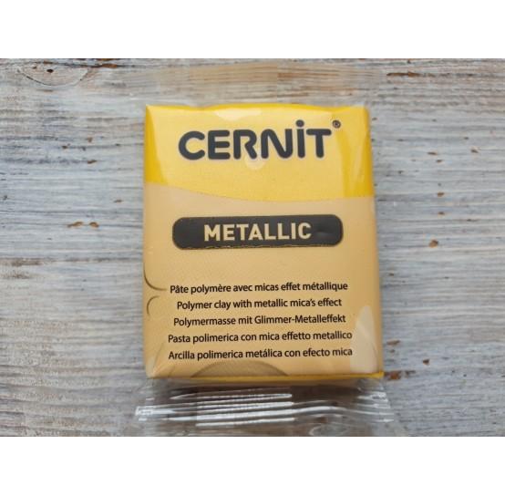 Cernit Metallic oven-bake polymer clay, yellow, Nr. 700, 56 gr