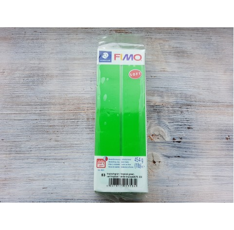 FIMO Soft oven-bake polymer clay, tropical green, Nr. 53, 454 gr