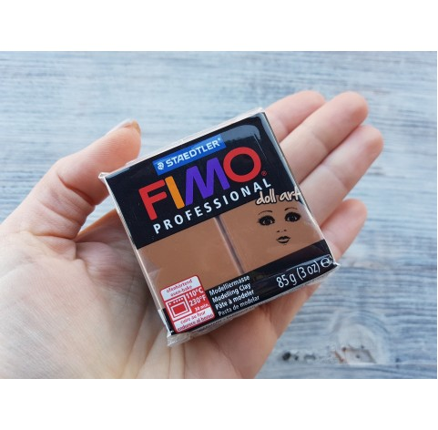 FIMO Professional Doll Art oven-bake polymer clay, nougat, Nr. 78, 85 gr