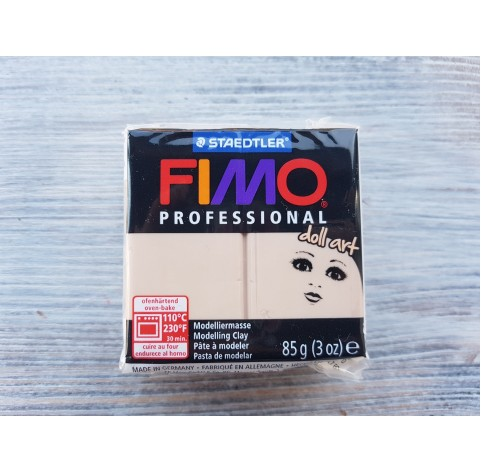 FIMO Professional Doll Art oven-bake polymer clay, sand, Nr. 45, 85 gr