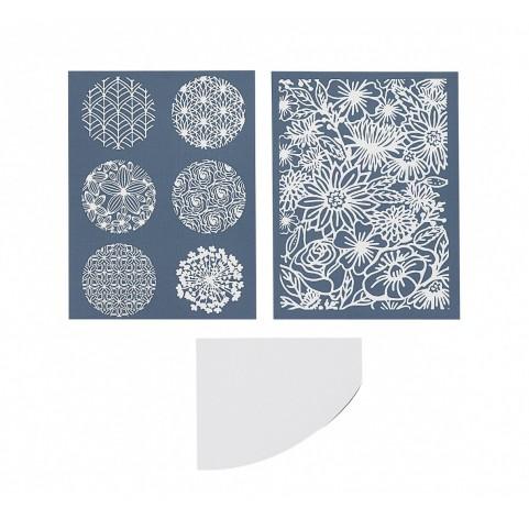 Silk Screen Sculpey, 2 sheets, Florals