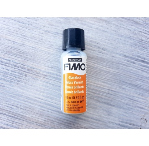 FIMO varnish, finish varnish for plastic, glossy, with brush, 10 ml