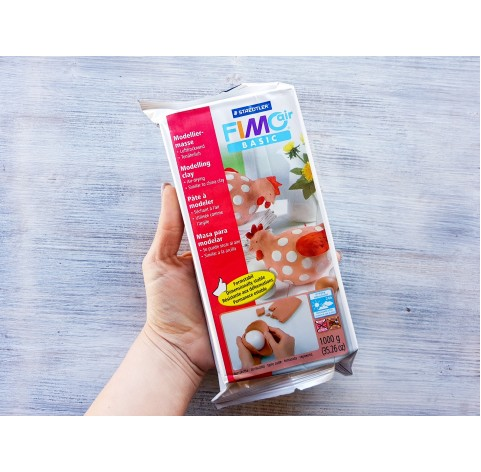 Fimo Air Basic modelling clay, terracotta, 1 kg