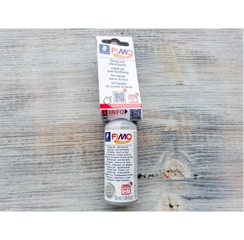 FIMO Deco gel, liquid polymer clay, Silver, 50 ml