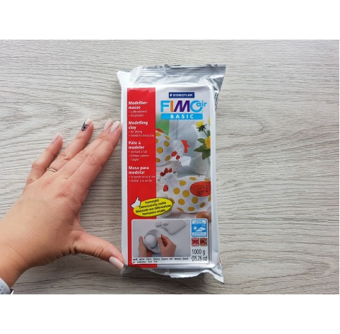 Fimo Air Basic modelling clay, white, 1 kg