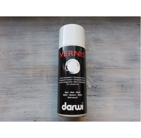 Darwi varnish spray, matt, 400 ml