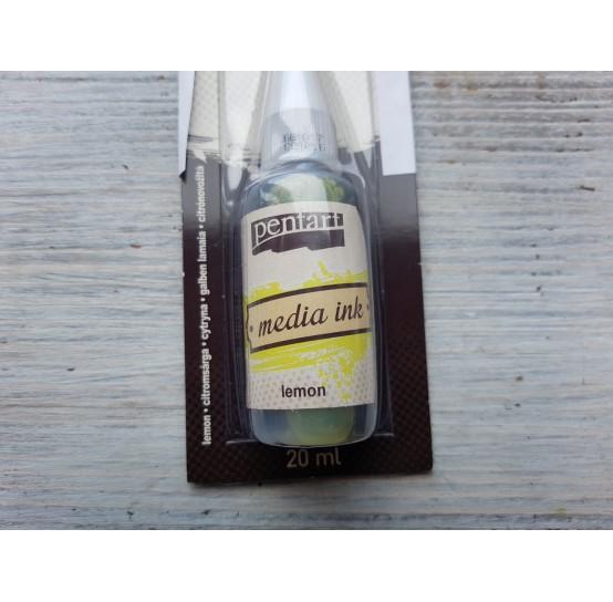 PENTART alcohol-based ink, lemon, 20 ml, No. 21006