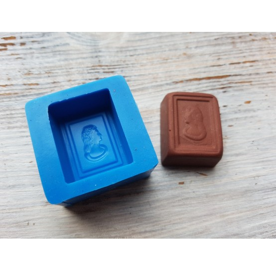 Silicone mold, chocolate candy with face, ~ 2.3*2.9 cm