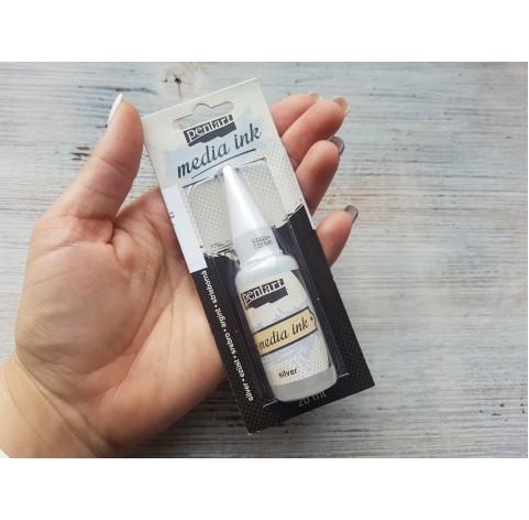 PENTART alcohol-based ink, silver, 20 ml, No. 21049