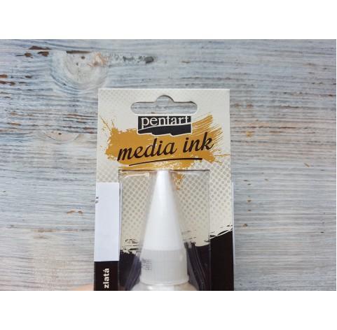 PENTART alcohol-based ink, gold, 20 ml, No. 21050