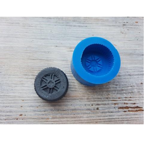 Silicone mold, wheel, ~ Ø 3 cm, ~ H 1.3 cm