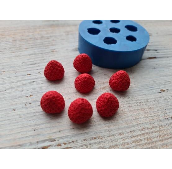 Silicone mold, strawberries, large, 7 pcs., ~ H 1.4 cm, ~ Ø 1.5 cm